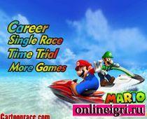 Гонки на скутере с Супер Марио