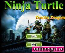 Бой ночью вместе с черепашками ниндзя