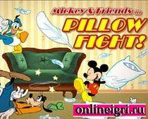 Микки Маус и друзья в боях подушками