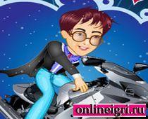 Гарри Поттер катается на мотоцикле