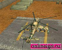 Военный Апачи вертолет